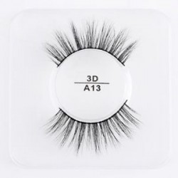 A13 - 1 pár Mink Hair False szempillák Wispy Természetes Long Cross Lashes Extension Tools