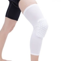 Antislip kosárlabda láb térdvédő Crashproof hosszú ujjú hajtómű Méhsejt pad