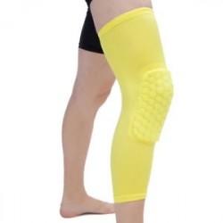 Sárga-S - Antislip kosárlabda láb térdvédő Crashproof hosszú ujjú hajtómű Méhsejt pad