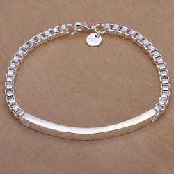 1x ezüst színű lánc karkötő ékszer ajándék