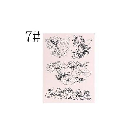 7 - Art Microblading Szemöldök és szemöldök oktatóanyag Silica Gel Tattoo Practice Skin