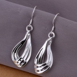 1 pár Ezüst színű könnycsepp fülbevaló ékszer