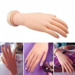 Lágy rugalmas műanyag Model gyakorló kéz műkörmös