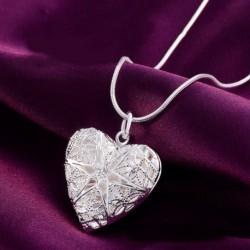 Bájos szív Medál Ezüstözött nyaklánc