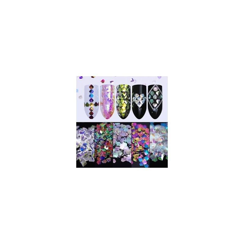 9462dd75b3 Holo színes kaméleon gyémánt 3D-s körömfényes csillogó flitterek manikűr  díszítéssel ...
