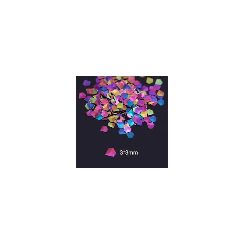 50f6b884d1 ... Holo színes kaméleon gyémánt 3D-s körömfényes csillogó flitterek  manikűr díszítéssel ...