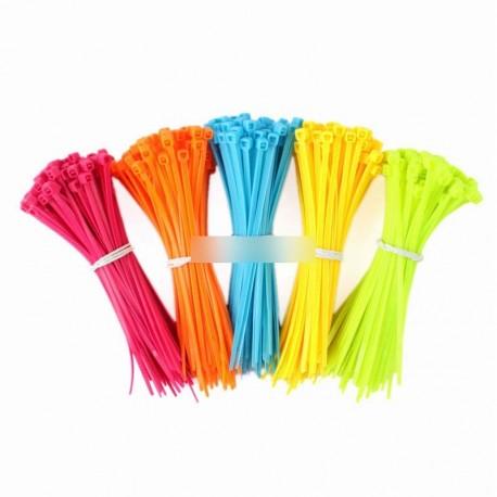100db vegyes színű műanyag gyorskötöző 102X2mm