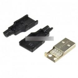2db USB2.0  Plug 4 tűs adapter csatlakozó aljzat