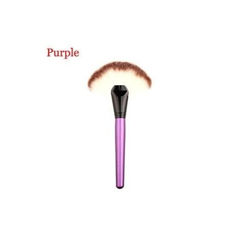 a1afd3b40532 lila - Foundation Pro kozmetikai rajongó alakú arcpowder ecset Concealor  smink eszköz