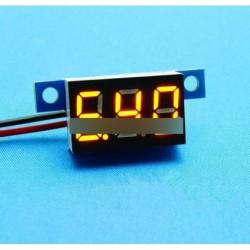 Sárga LED Panel Meter Mini lítium akku voltmérő