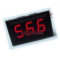2db piros LED Mini digitális voltmérő DC 0V -99.9V