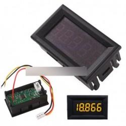 """Sárga 0,36 """"0-33.000V  voltmérő feszültség mérő"""
