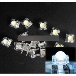 100db 5mm F5 Piranha LED fehér kerek fejű dióda