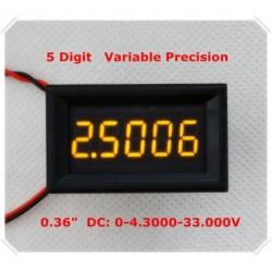 Sárga LED 5 jegyű DC digitális voltmérő panel