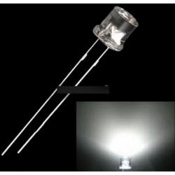 200db 5MM 2PIN  fehér LED Wide Angle lámpa dióda