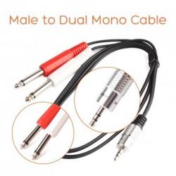 """90cm  1/8 """"Stereo  Dual Mono audió erősítő kábel"""