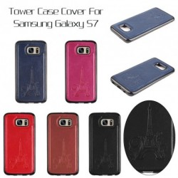 Új Tower tok TPU + bőr tartó Samsung Galaxy S7 1db