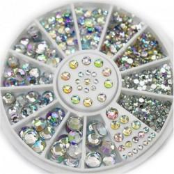 5 Méret akril Glitter strassz köröm dekor