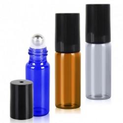 5ml-es mini golyós üveg fekete kupakkal