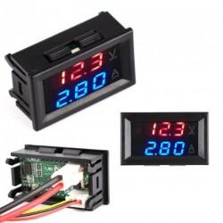 DC0-100V 10A LED Vörös Kék feszültség árammérő