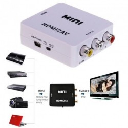 1080P Mini HDMI Kompozit RCA Audio Video AV