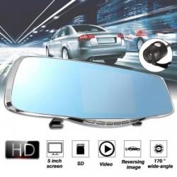 """1080P 5 """" HD kettős objektíves autós DVR visszapillantó tükör éjjellátó"""
