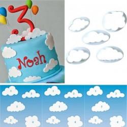 5db felhő Műanyag fondant vágó torta díszítő
