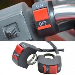 Univerzális motorkerékpár ATV fogantyú kapcsoló ON / OFF gomb vezérlő LED fény