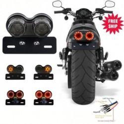 Univerzális motorkerékpár hátsó lámpa LED hátsó féklámpa jelzőfény