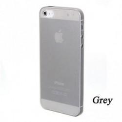 szürke - Soft Phone Protector Tiszta hátsó tok Hard Skin Cover Matte az Iphone 5-hez