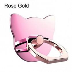 rózsa arany - Állványállvány univerzális telefontartó ujj gyűrű fogantyú Cartoon Cat 360 ° Forgó