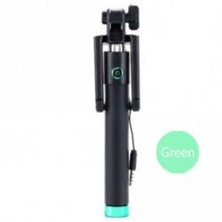 Zöld - Kézi Wired Selfie Stick Monopod bővíthető pólus iPhone Samsung Universal