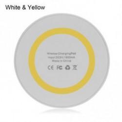 Fehér és sárga - Hot Sale Hordozható Univerzális Qi vezeték nélküli töltő matrac töltő Smartphone