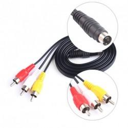 4 pin S-Video 3 RCA TV AV kábel vezeték csatlakozó PC-TV DVD Laptop 1,5 méter