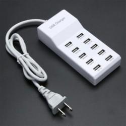10 USB port gyors töltő adapter fal töltő HUB az IPhone Samsung Tablet