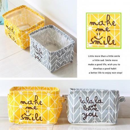 1db egyszerű textil íróasztal tároló doboz Ékszer Kozmetikai papír Szervező rendező tartó