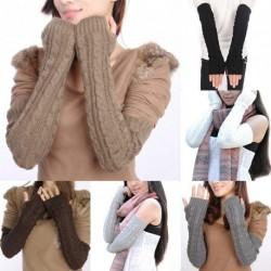 1db Női téli Kötött Horgolt Fonott kar kéz melegítő meleg termó