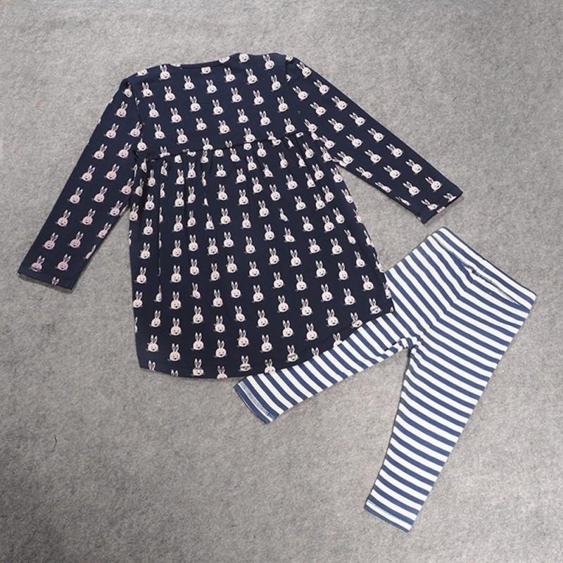 c28de23d42 2dbos szett Tipegő Felső + nadrág ruha kislány csecsemő baba ruha Hosszú  ujjú