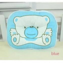 Kék - Csecsemő újszülött ágynemű Baby Head alakú párna alakítás