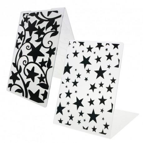 1db csillag Minta Műanyag Domborítómappa DIY Scrapbook Papír Craft Kártya dekorációs kellékek