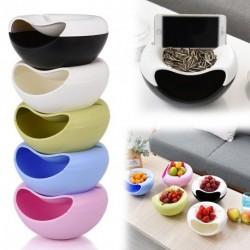 1db kreatív dizájnos Snack nasi chips Gyümölcs műanyag tároló doboz