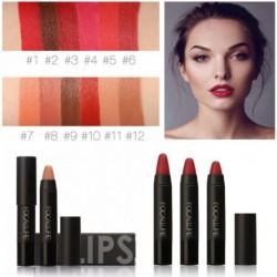 1db FOCALLURE 12 szín Vízálló Hosszantartó könnyű Kozmetikai nude smink ajakrúzs rúzs