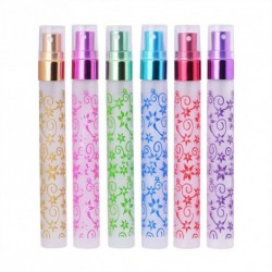 6db 10ml kis üres aromás Parfüm Virág mintás spray parfümös üveg porlasztó ajándék