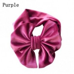 Lila - Aranyos Baby Pleuche nagy rugalmas bow fejpánt meleg candy nylon párna Hairband