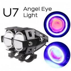 1x Devil Eye 12-80V CREE U7 univerzális LED autó DRL motorkerékpár fényszóró köd nappali világítás