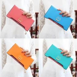 1x Divatos pénztárca női hölgy hosszú pénztárca erszényes édes cukorka színes műbőr táska