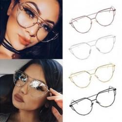 1x Divat Női macska keretes szemüveg ezüst fém szemüveg keret szexi szemüveg nagyméretű