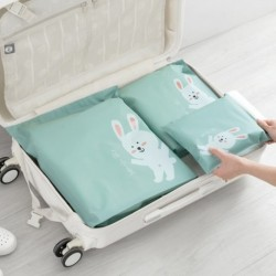 3db mesés Vízálló cipzáras zseb utazótáska táska bőrönd