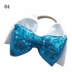 4 - Aranyos Lány Nagy Elasztikus Sequins Bow Fejpánt Csúszás Fejpánt Baba Párna Hairband