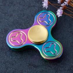 1x szivárványos fidget Spinner pörgettyű Tri-Spinner Fidget Gyro EDC Autizmus Játékok